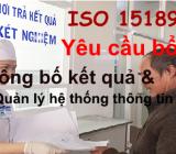 Yêu cầu bổ sung về công bố kết quả và quản lý thông tin theo ISO 15189:2012