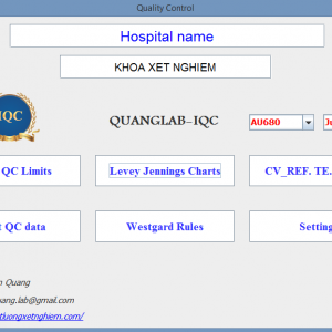 Phần mềm nội kiểm chất lượng xét nghiệm