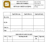 Hướng dẫn xây dựng Sổ tay chất lượng xét nghiệm theo tiêu chí 2429