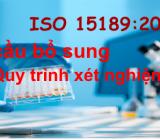 Yêu cầu bổ sung về quy trình xét nghiệm theo ISO 15189:2012